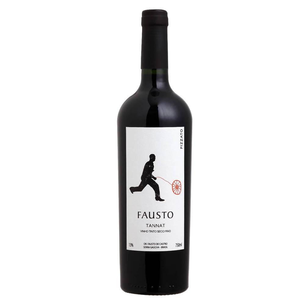Kit 03 Unidades Vinho Fausto de Pizzato Tannat 750ml