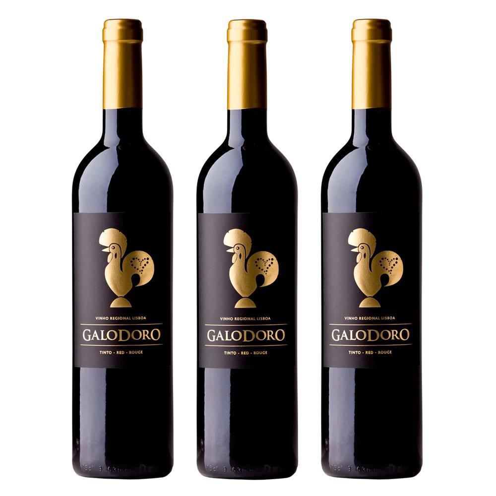 Kit 03 Unidades Vinho Galodoro Tinto 750ml