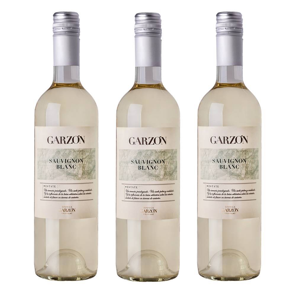 Kit 03 Unidades Vinho Garzón Estate Sauvignon Blanc 750ml