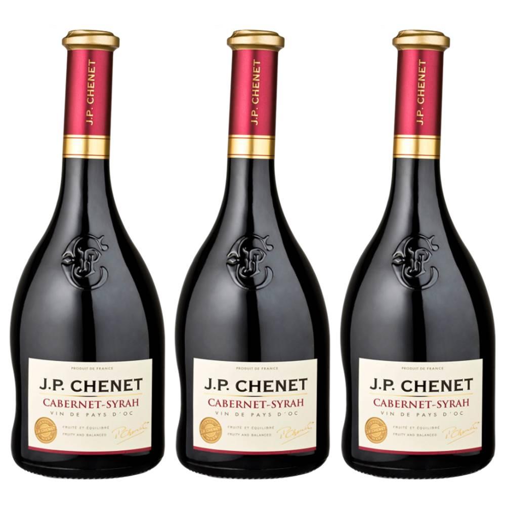 Kit 03 Unidades Vinho JP Chenet Cabernet-syrah 750ml