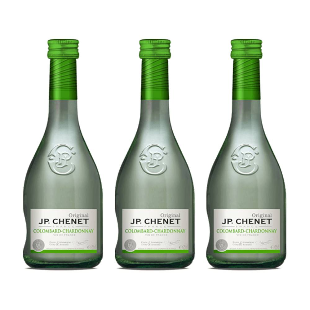 Kit 03 Unidades Vinho JP Chenet Colombard-Chardonnay 250ml