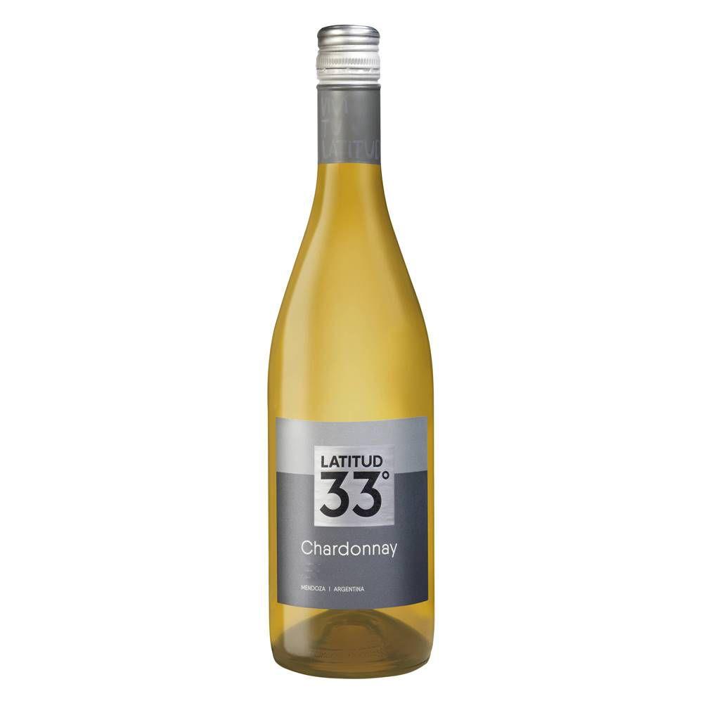 Kit 03 Unidades Vinho Latitud 33 Chardonnay 750ml