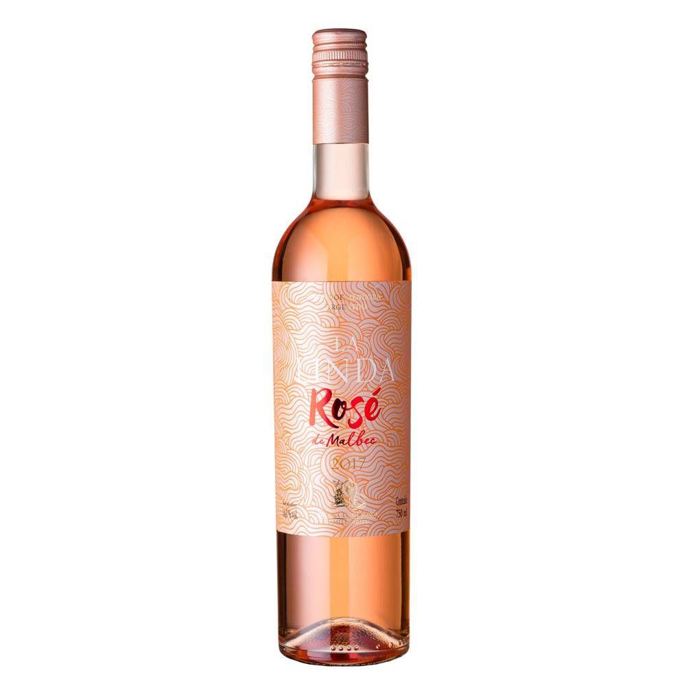Kit 03 Unidades Vinho Luigi Bosca La Linda Rosé Malbec 750ml