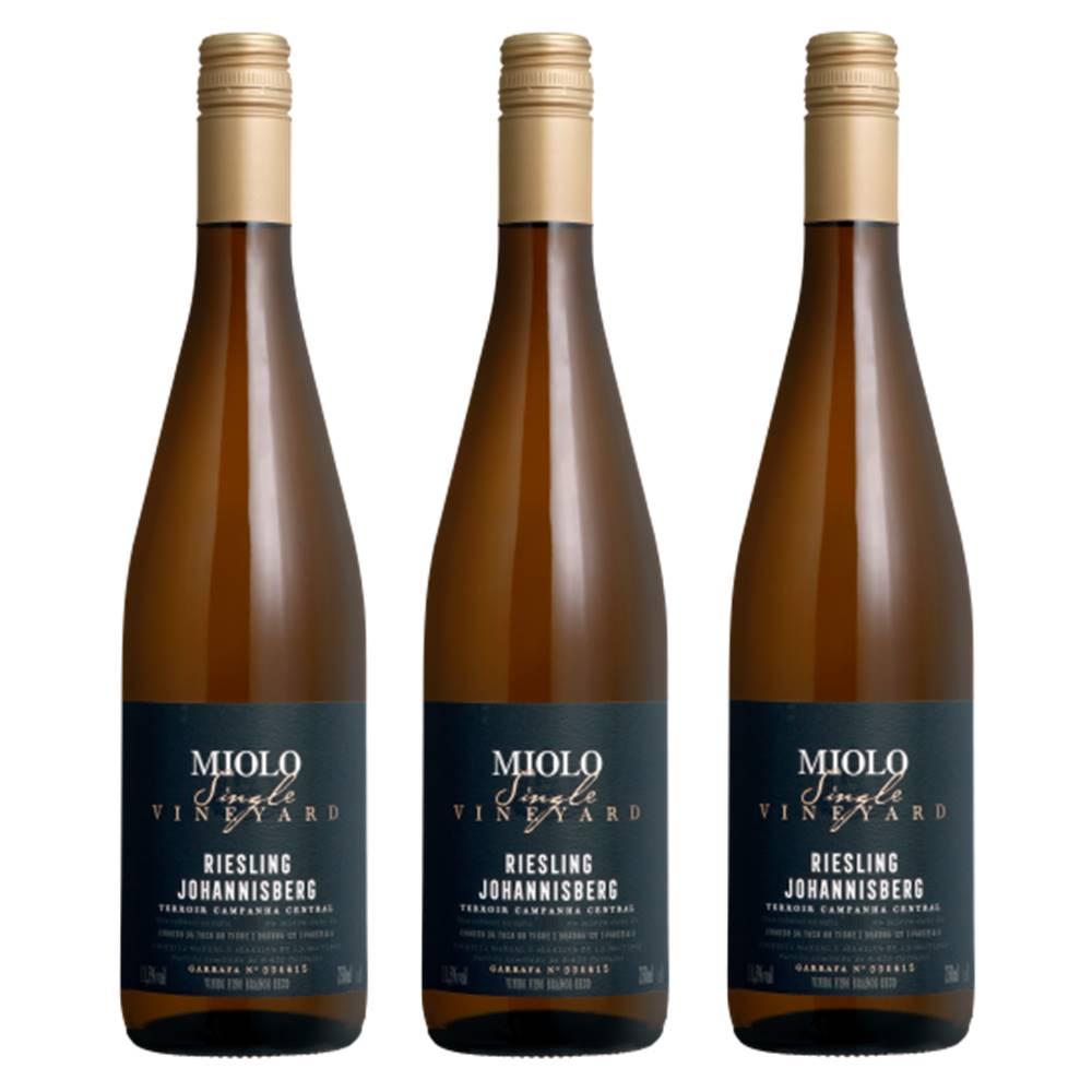 Kit 03 Unidades Vinho Miolo Single Vineyard Riesling 750ml