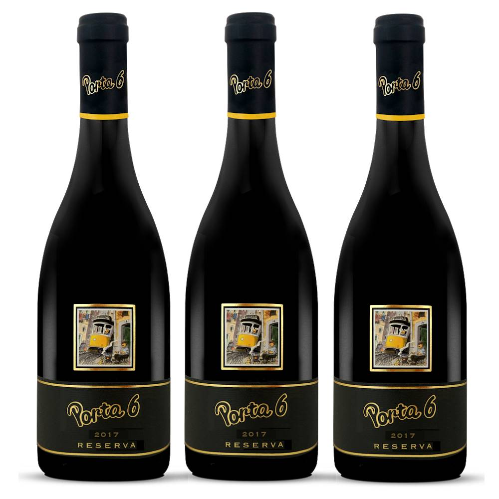 Kit 03 Unidades Vinho Porta 6 Tinto Reserva 750ml