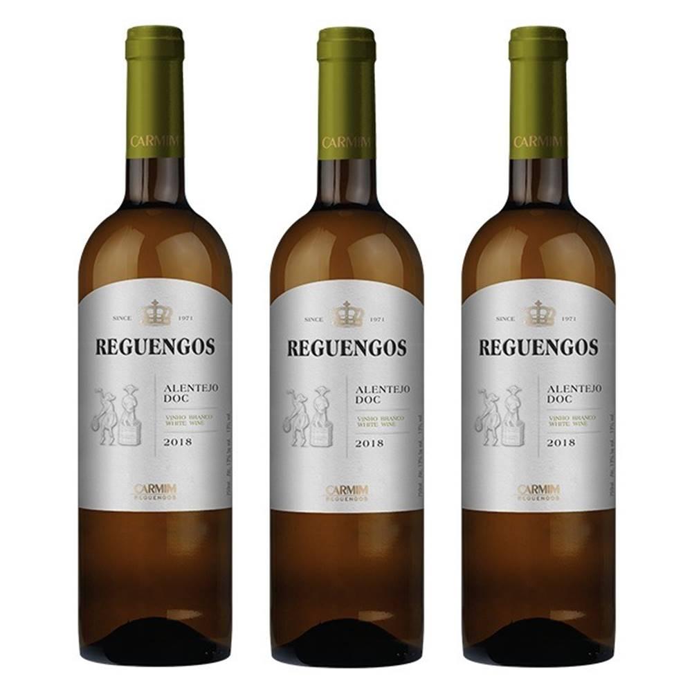 Kit 03 Unidades Vinho Reguengos DOC Branco 750ml