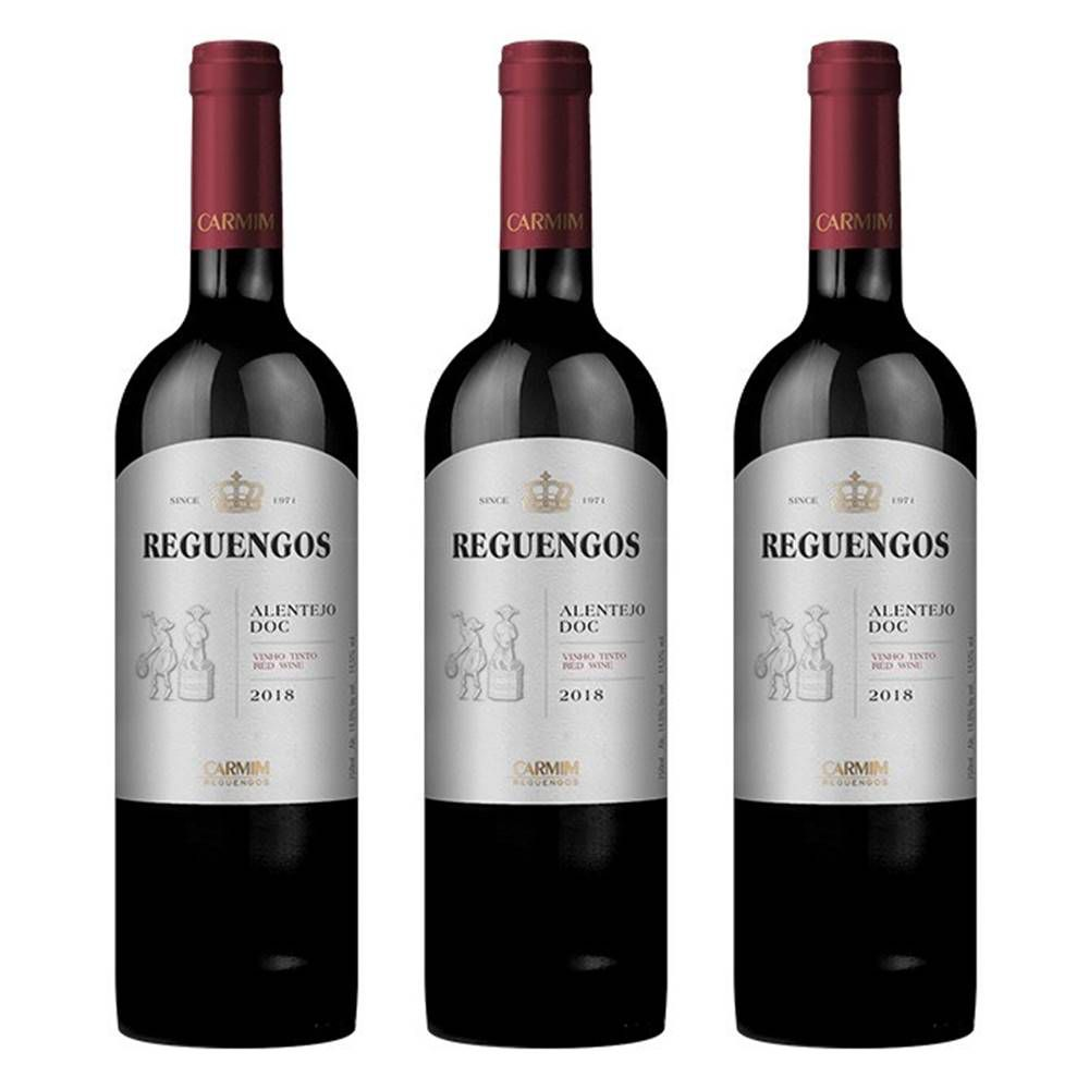 Kit 03 Unidades Vinho Reguengos DOC Tinto 750ml