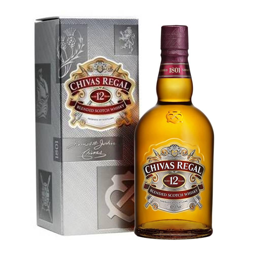 Kit 03 Unidades Whisky Chivas Regal 12 Anos 1 Litro