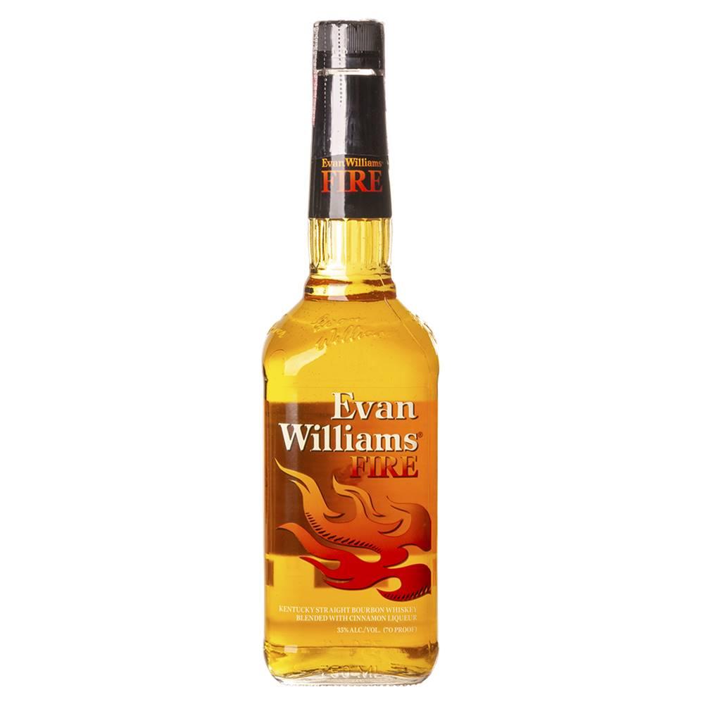Kit 03 Unidades Whisky Evan Williams Fire Canela 750ml