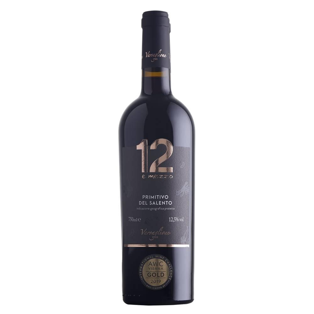 Kit 06 Un. Vinho 12 e Mezzo Primitivo del Salento IGP 750ml