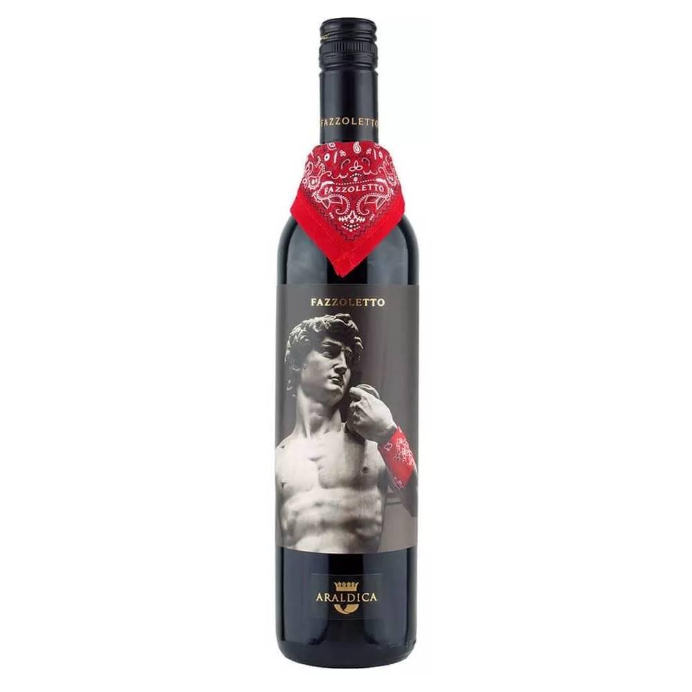 Kit 06 Un. Vinho Araldica Fazzoletto Barbera Passito 750ml