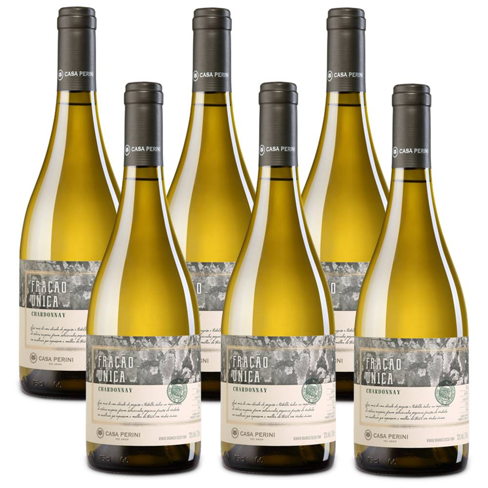 Kit 06 Un. Vinho Casa Perini Fração Única Chardonnay 750ml