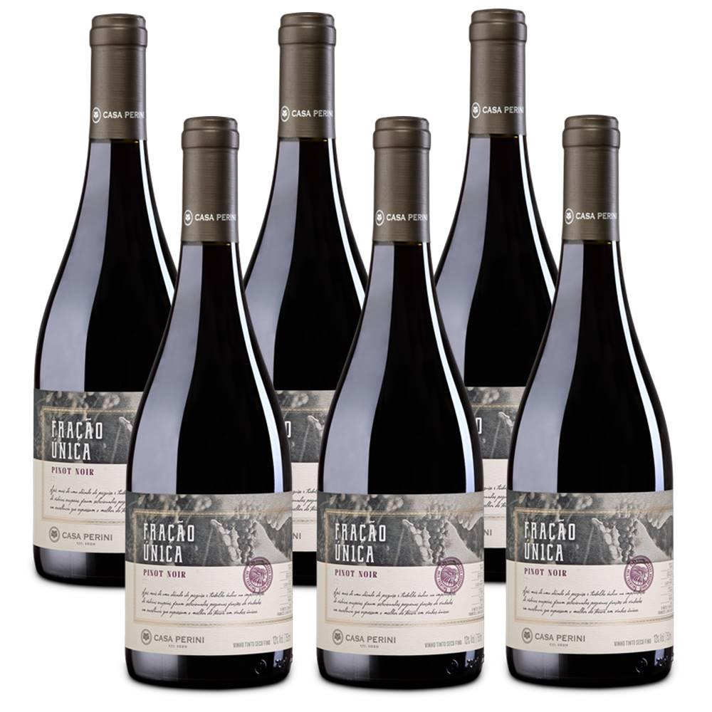 Kit 06 Un. Vinho Casa Perini Fração Única Pinot Noir 750ml