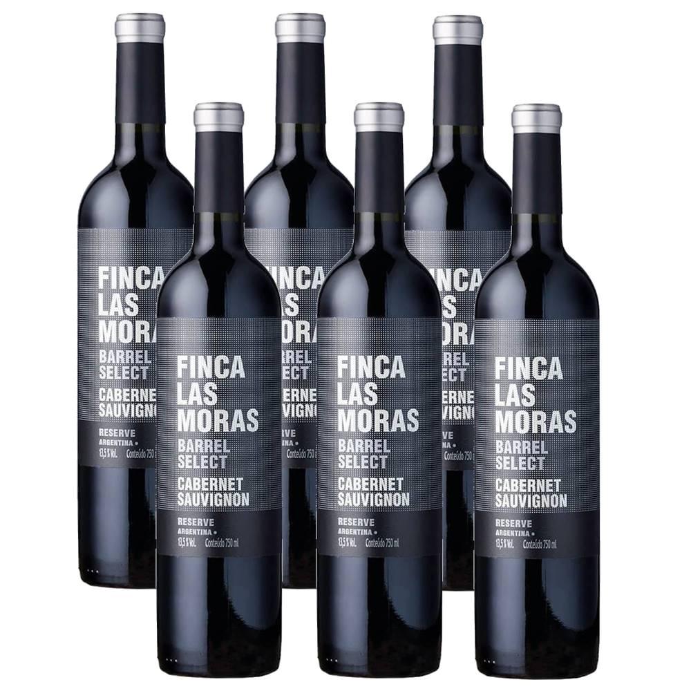 Kit 06 Un. Vinho Finca Las Moras Barrel Select Cabernet Sauv