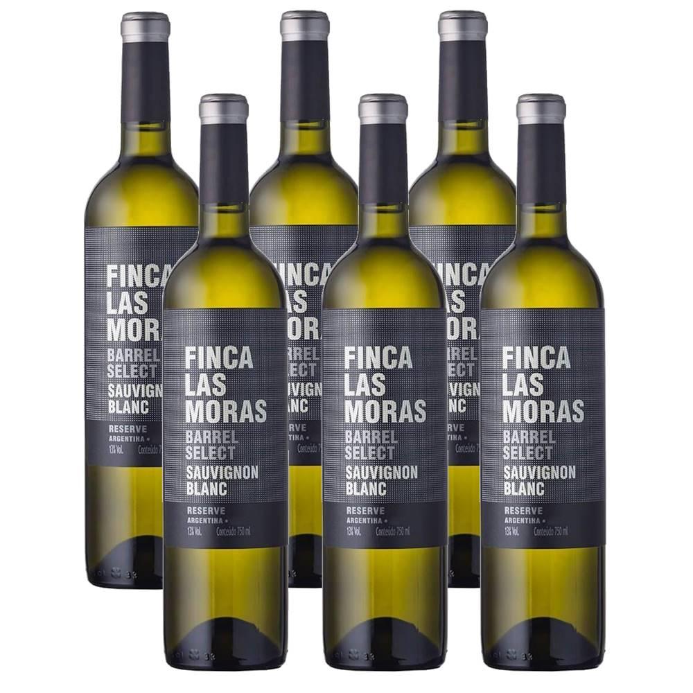 Kit 06 Un. Vinho Finca Las Moras Barrel Select Sauvig. Blanc