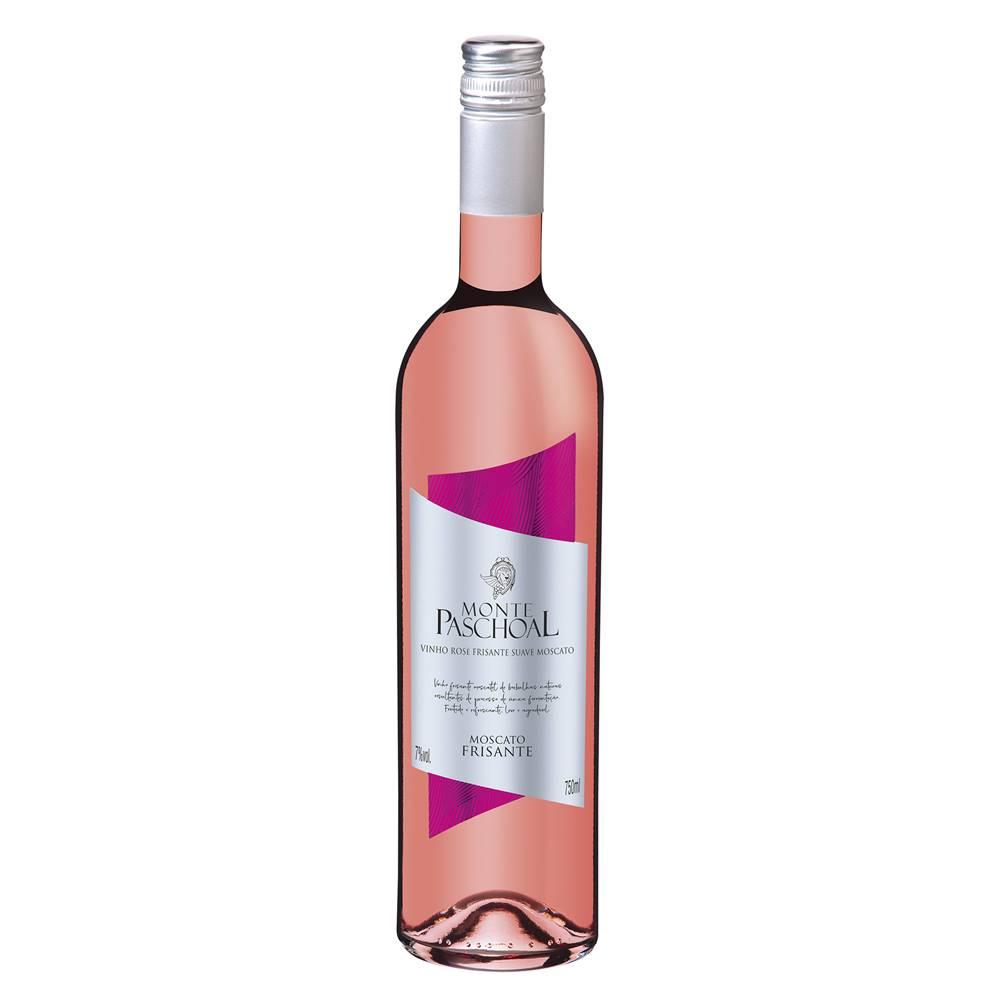 Kit 06 Un. Vinho Frisante Monte Paschoal Moscatel Rosé 750ml