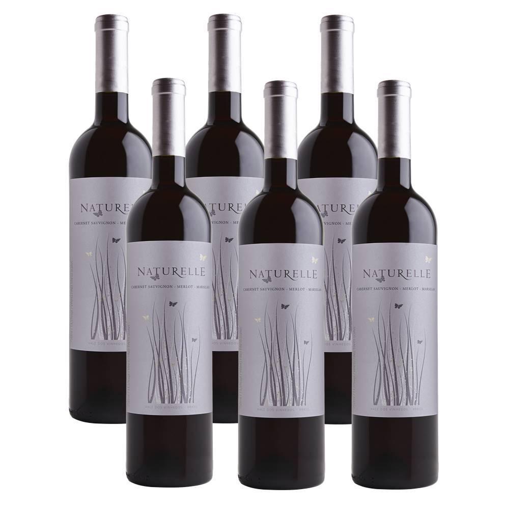 Kit 06 Unid. Vinho Casa Valduga Naturelle Tinto Suave 750ml