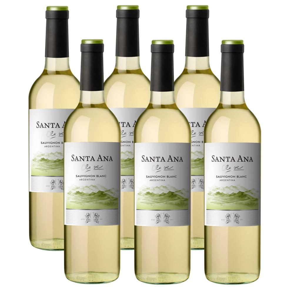 Kit 06 Unidad. Vinho Santa Ana Classic Sauvignon Blanc 750ml