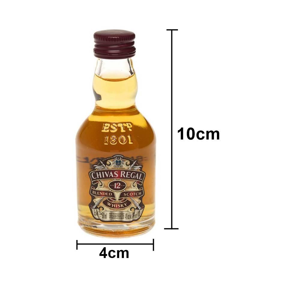 Kit 06 Unidades Mini Whisky Chivas Regal 12 Anos 50ml