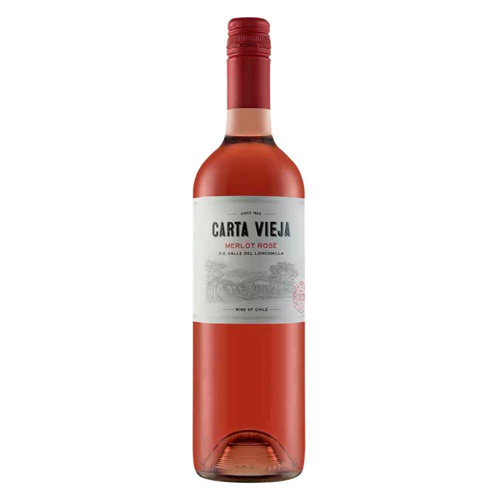 Kit 06 Unidades Vinho Carta Vieja Merlot Rosé 750ml