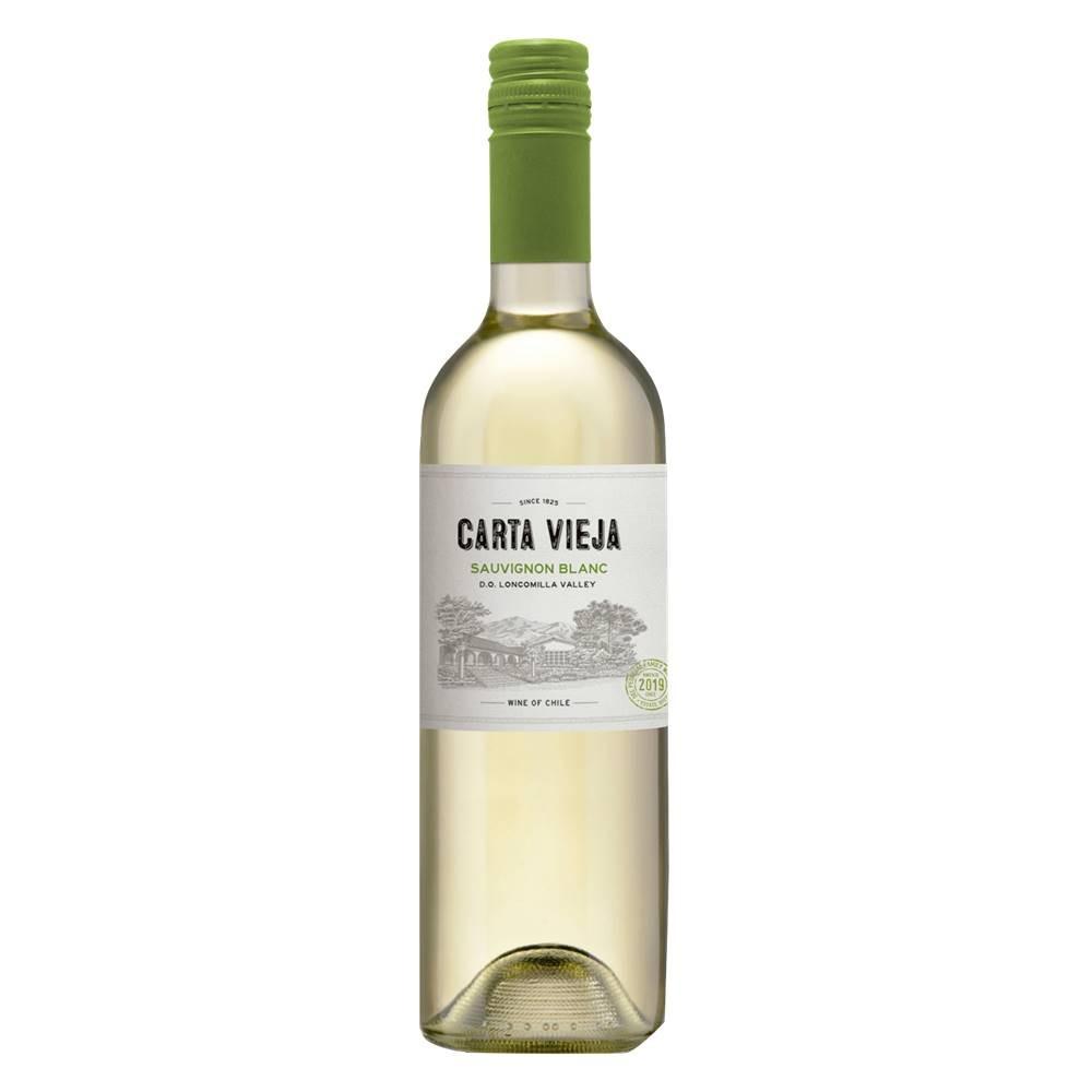 Kit 06 Unidades Vinho Carta Vieja Sauvignon Blanc 750ml