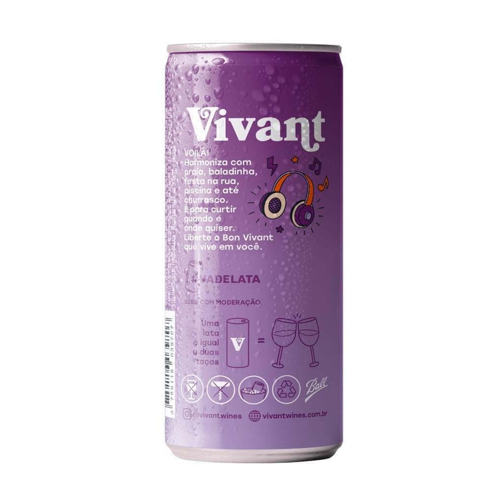 Kit 06 Unidades Vinho em Lata Vivant Tinto 269ml