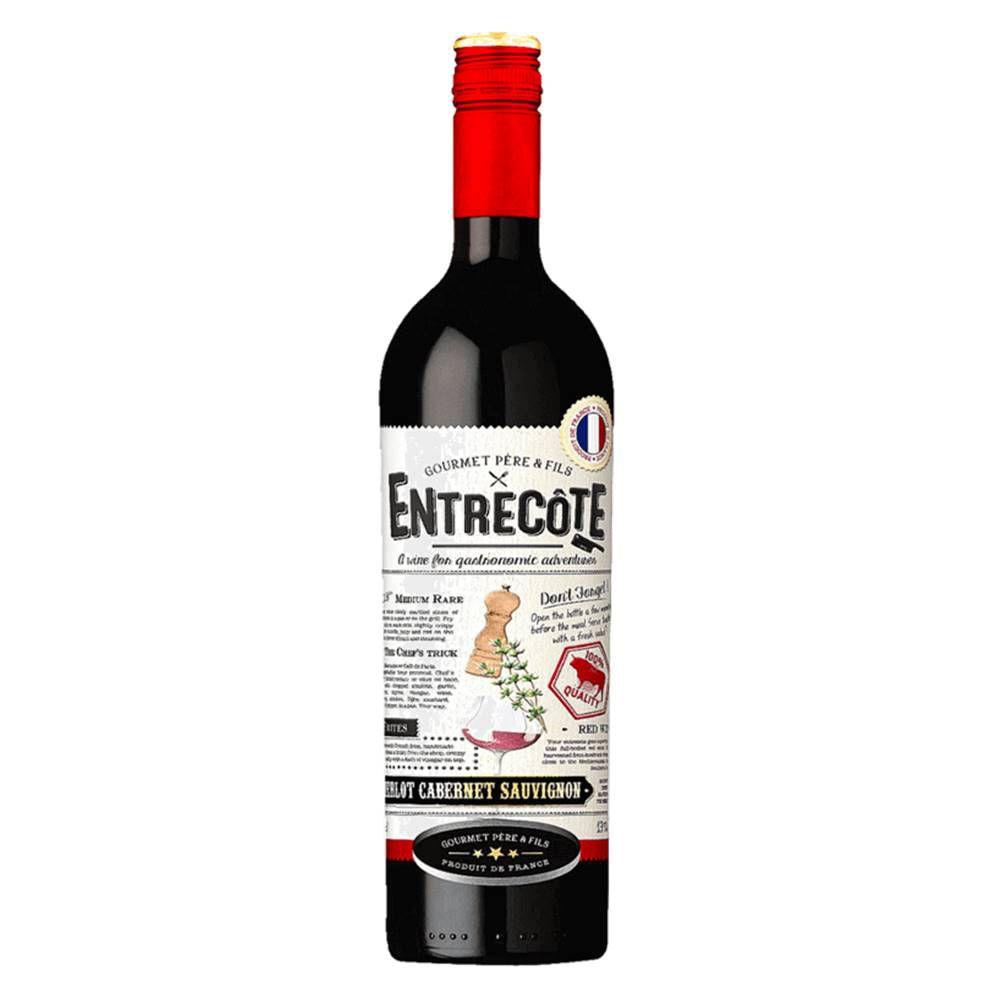 Kit 06 Unidades Vinho Entrecôte Merlot Cabernet Syrah 750ml