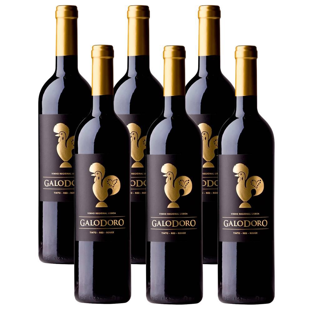 Kit 06 Unidades Vinho Galodoro Tinto 750ml