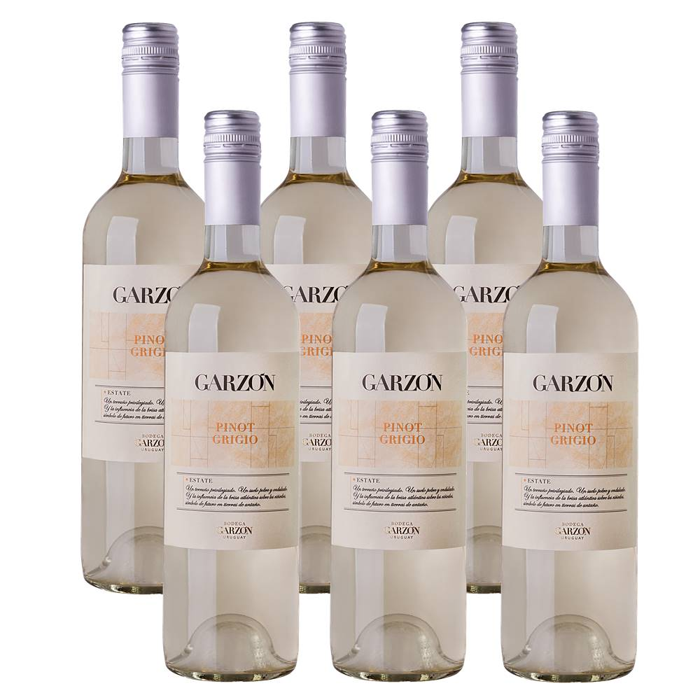 Kit 06 Unidades Vinho Garzón Estate Pinot Grigio 750ml