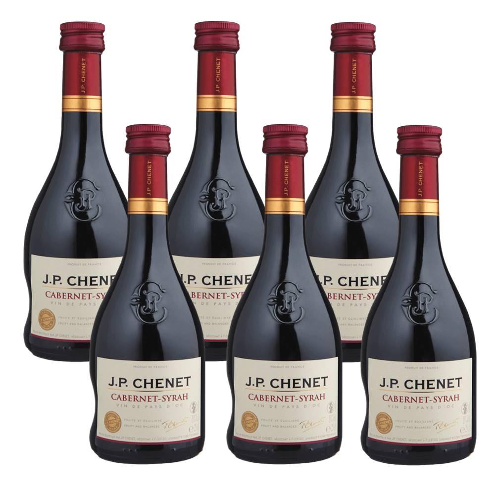 Kit 06 Unidades Vinho JP Chenet Cabernet-syrah 250ml