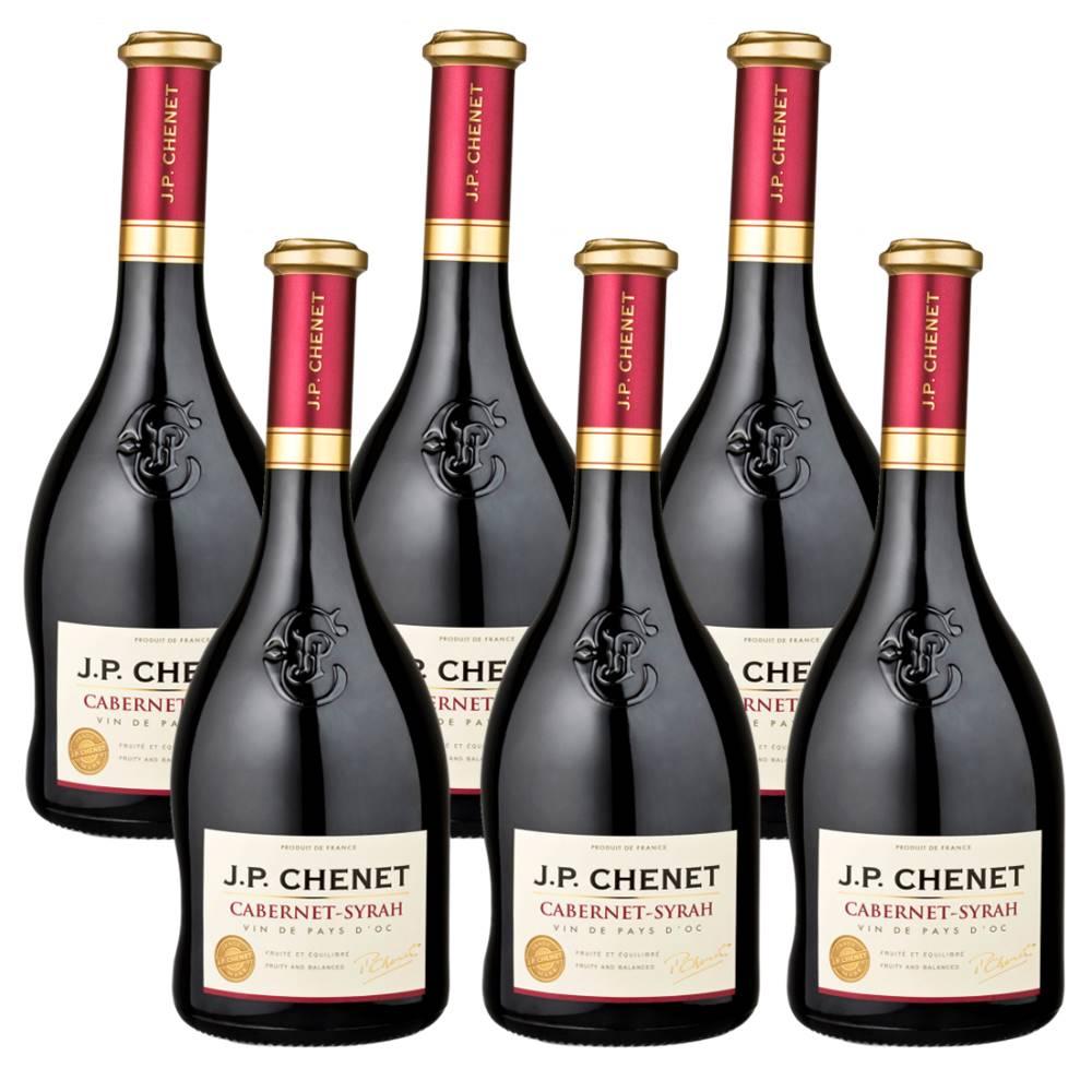 Kit 06 Unidades Vinho JP Chenet Cabernet-syrah 750ml