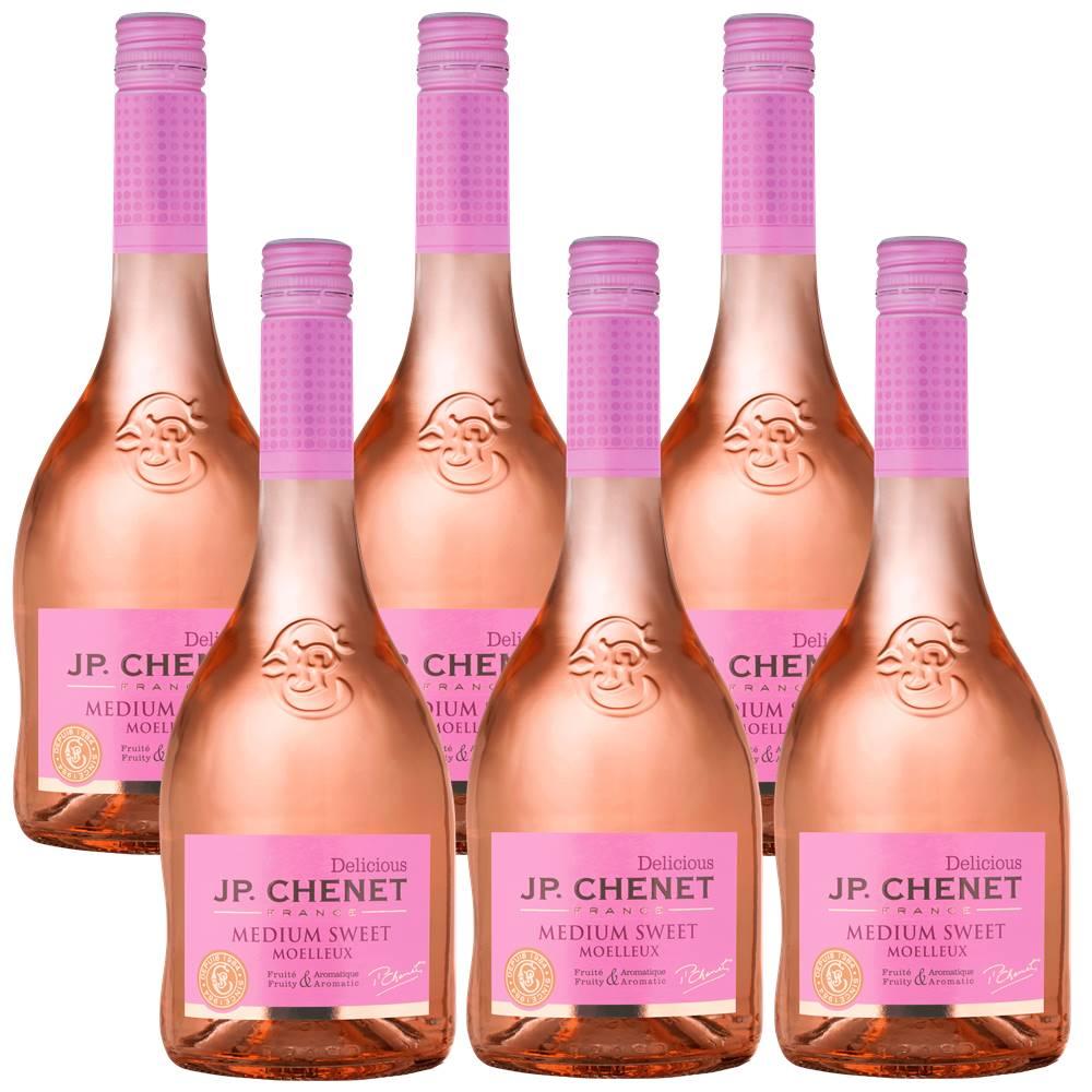 Kit 06 Unidades Vinho JP Chenet Delicious Rosé Suave 750ml
