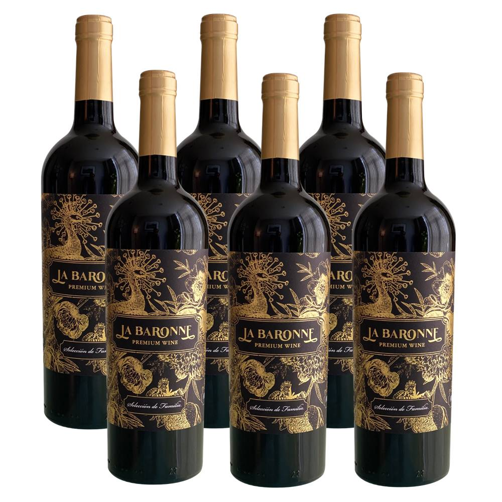 Kit 06 Unidades Vinho La Baronne Reserva de Família 750ml