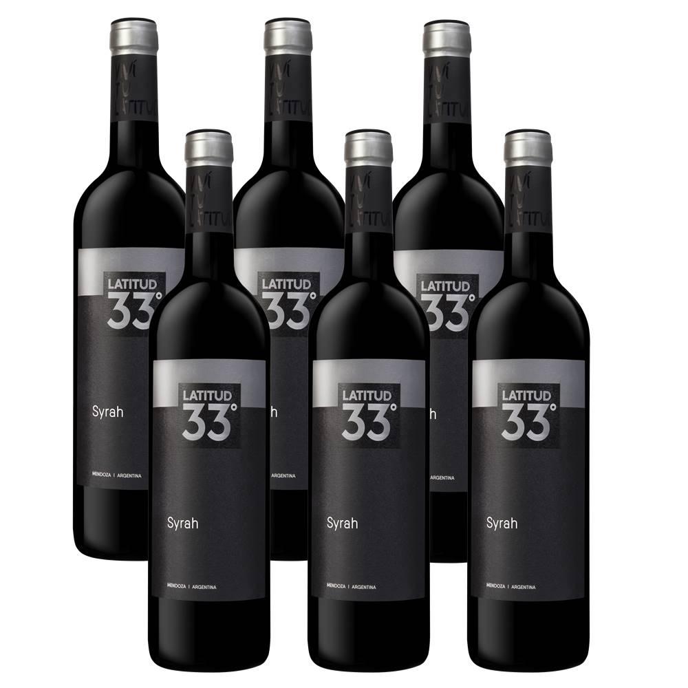 Kit 06 Unidades Vinho Latitud 33 Syrah 750ml
