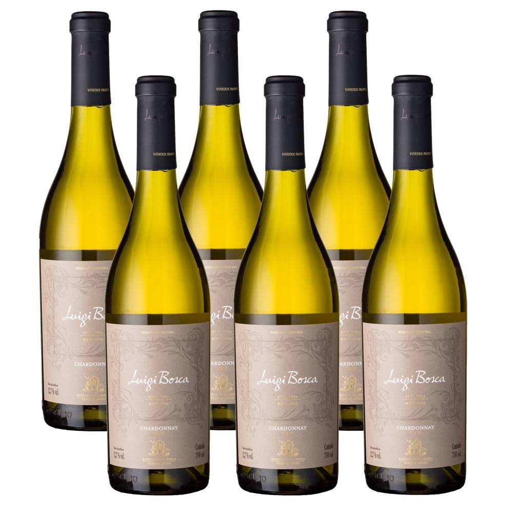 Kit 06 Unidades Vinho Luigi Bosca Chardonnay 750ml