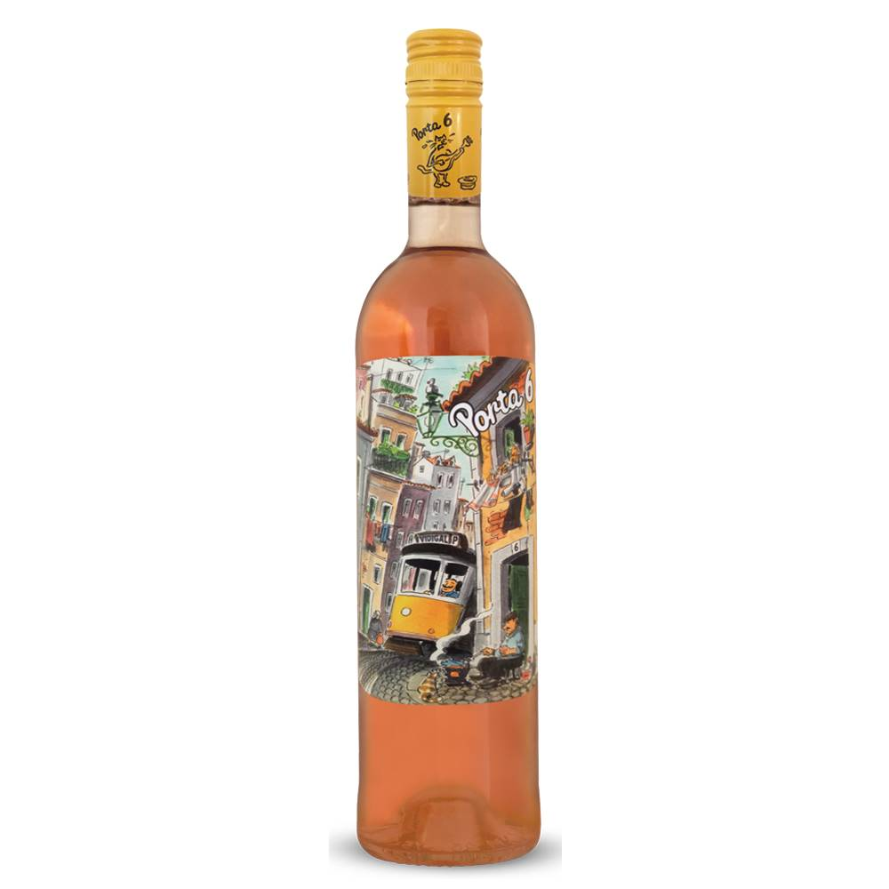 Kit 06 Unidades Vinho Porta 6 Rosé 750ml