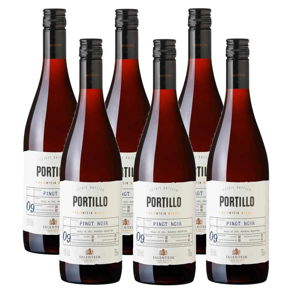 Kit 06 Unidades Vinho Salentein Portillo Pinot Noir 750ml