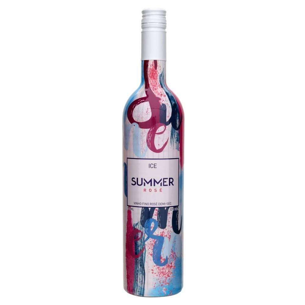 Kit 06 Unidades Vinho Summer Ice Rosé Casa Motter 750ml