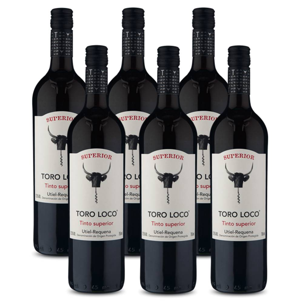 Kit 06 Unidades Vinho Toro Loco Tinto Superior 750ml