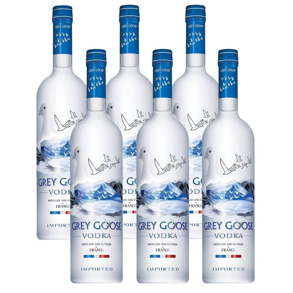 Kit 06 Unidades Vodka Grey Goose 750ml
