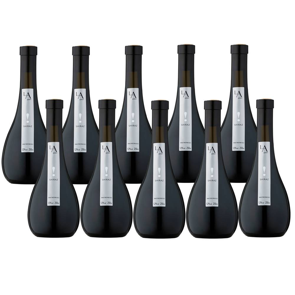 Kit 10 Unidades Mini Vinho Luiz Argenta Jovem Shiraz 250ml