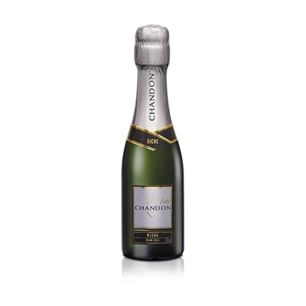 Kit 12 Un. Mini Espumante Chandon Baby Riche Demi-Sec 187ml