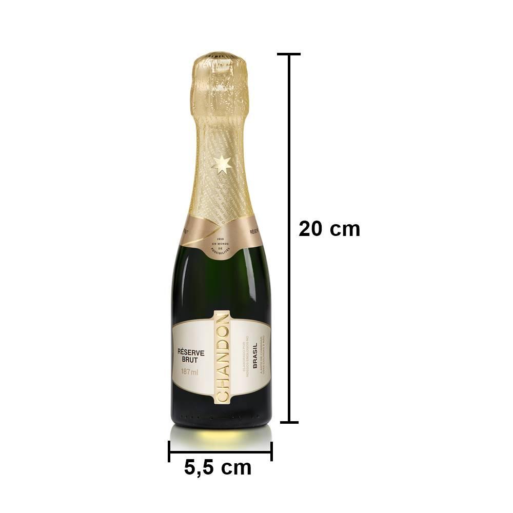 Kit 12 Unid. Mini Espumante Chandon Baby Réserve Brut 187ml