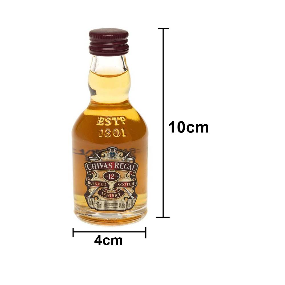 Kit 12 Unidades Mini Whisky Chivas Regal 12 Anos 50ml