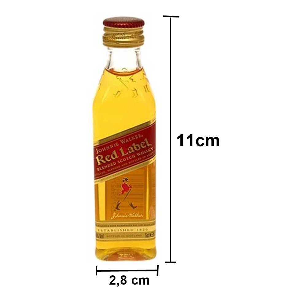 Kit Com 04 Miniaturas de Whisky 50ml - Jack Chivas Red Black