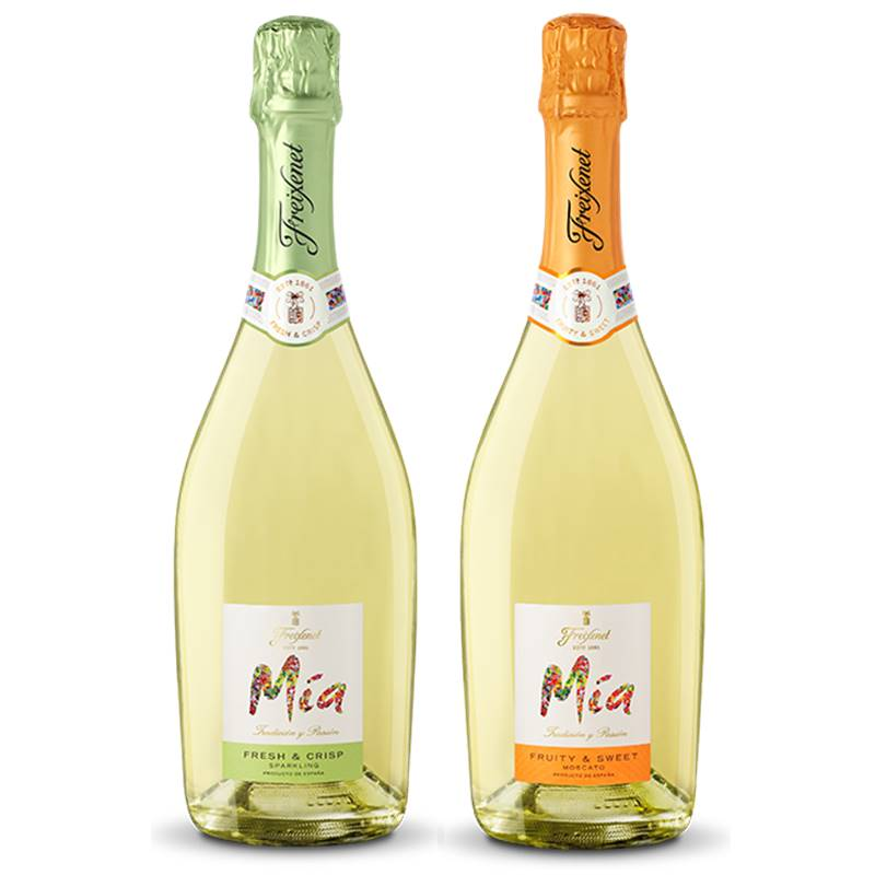 Kit Espumante Freixenet Mia 01 Fresh 750ml e 01 Fruity 750ml