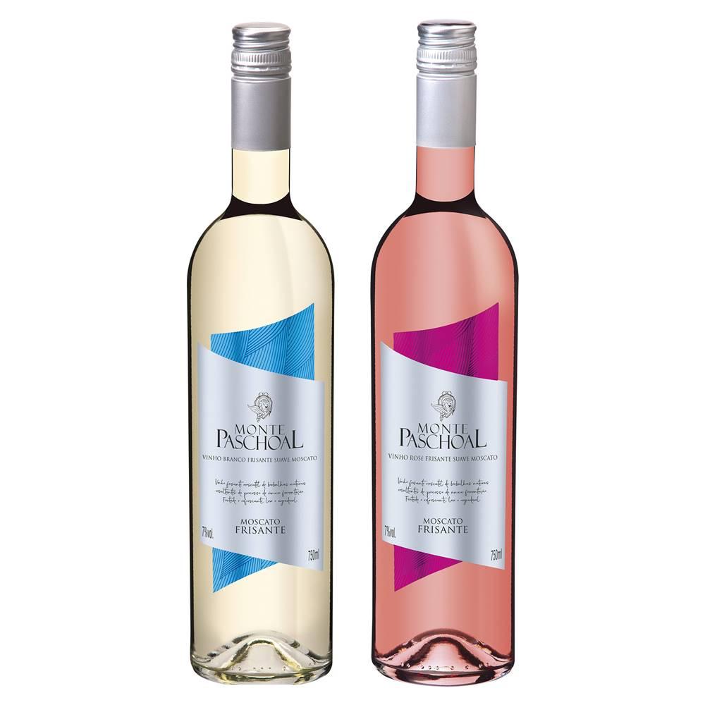 Kit Frisante Monte Paschoal Moscatel Branco + Rosé 750ml