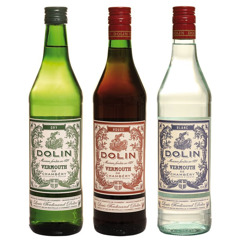Kit Vermute Dolin Dry Rouge Blanc 750ml