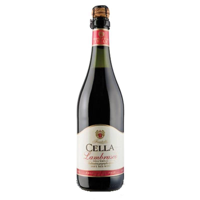Lambrusco Frisante Dell emilia Cella Tinto 750ml 03 Unidades
