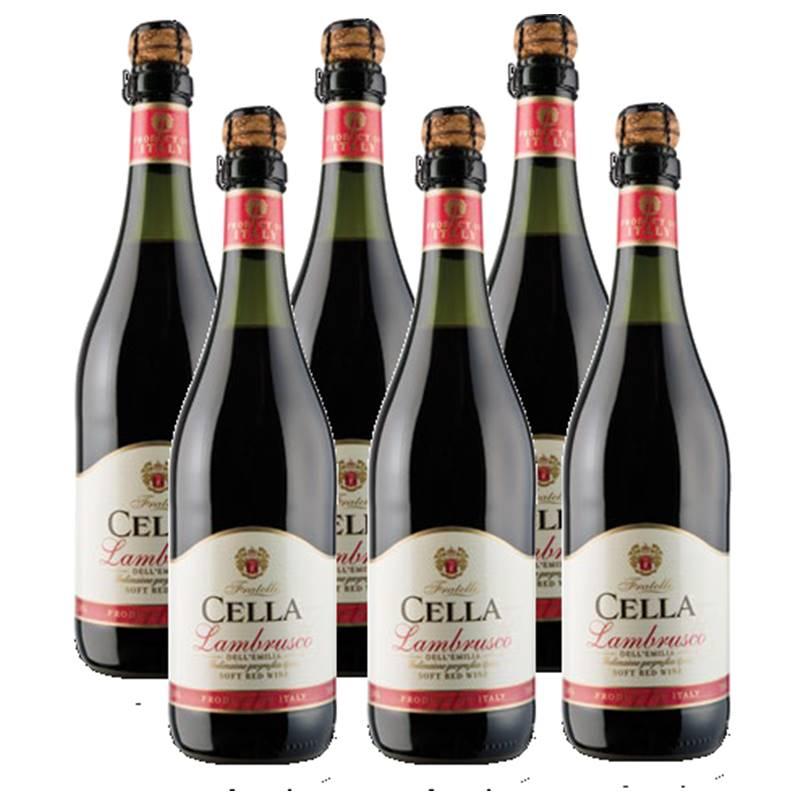Lambrusco Frisante Dell emilia Cella Tinto 750ml 06 Unidades